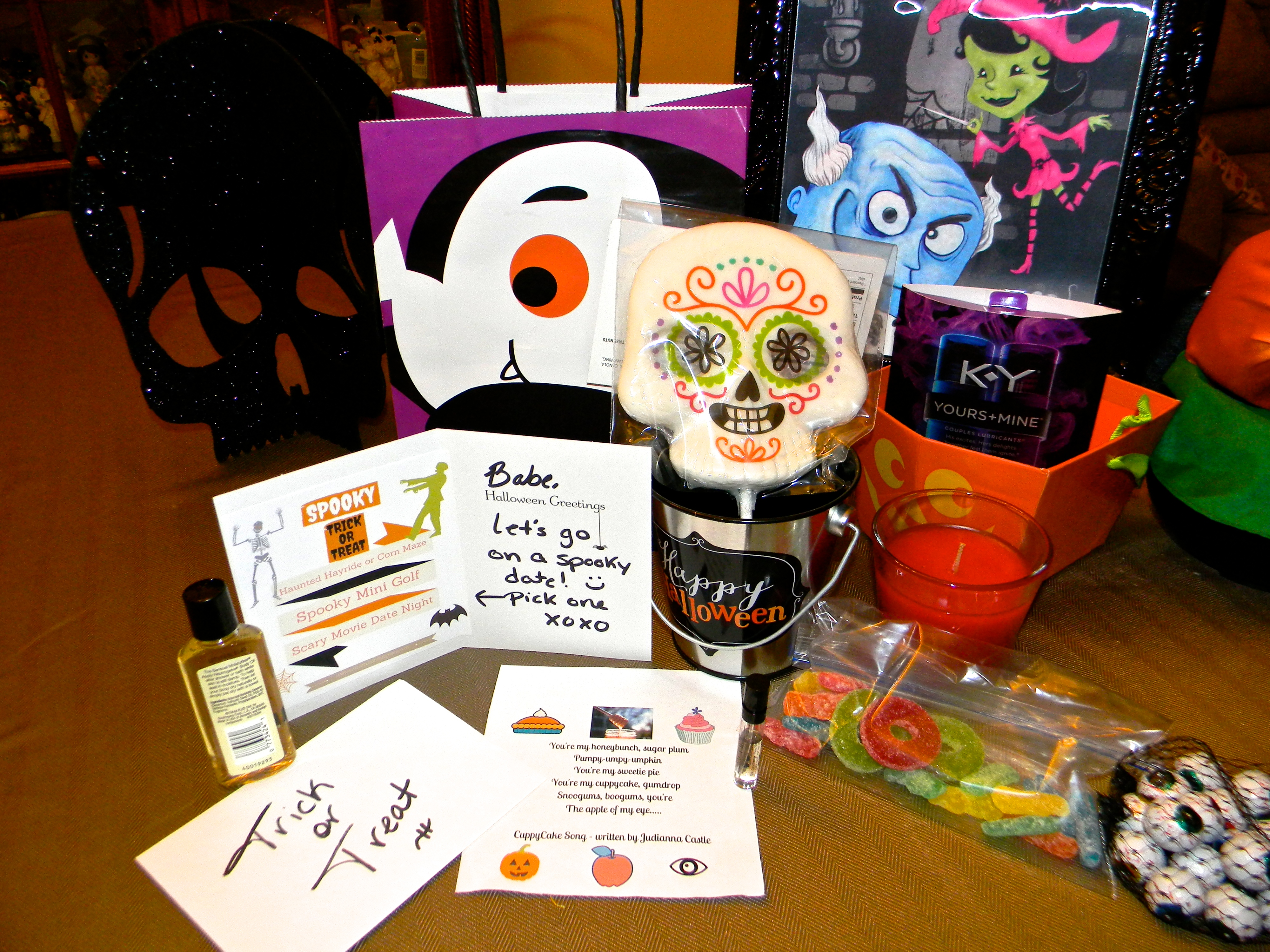 Trick or Treat Date Night Gift Bag