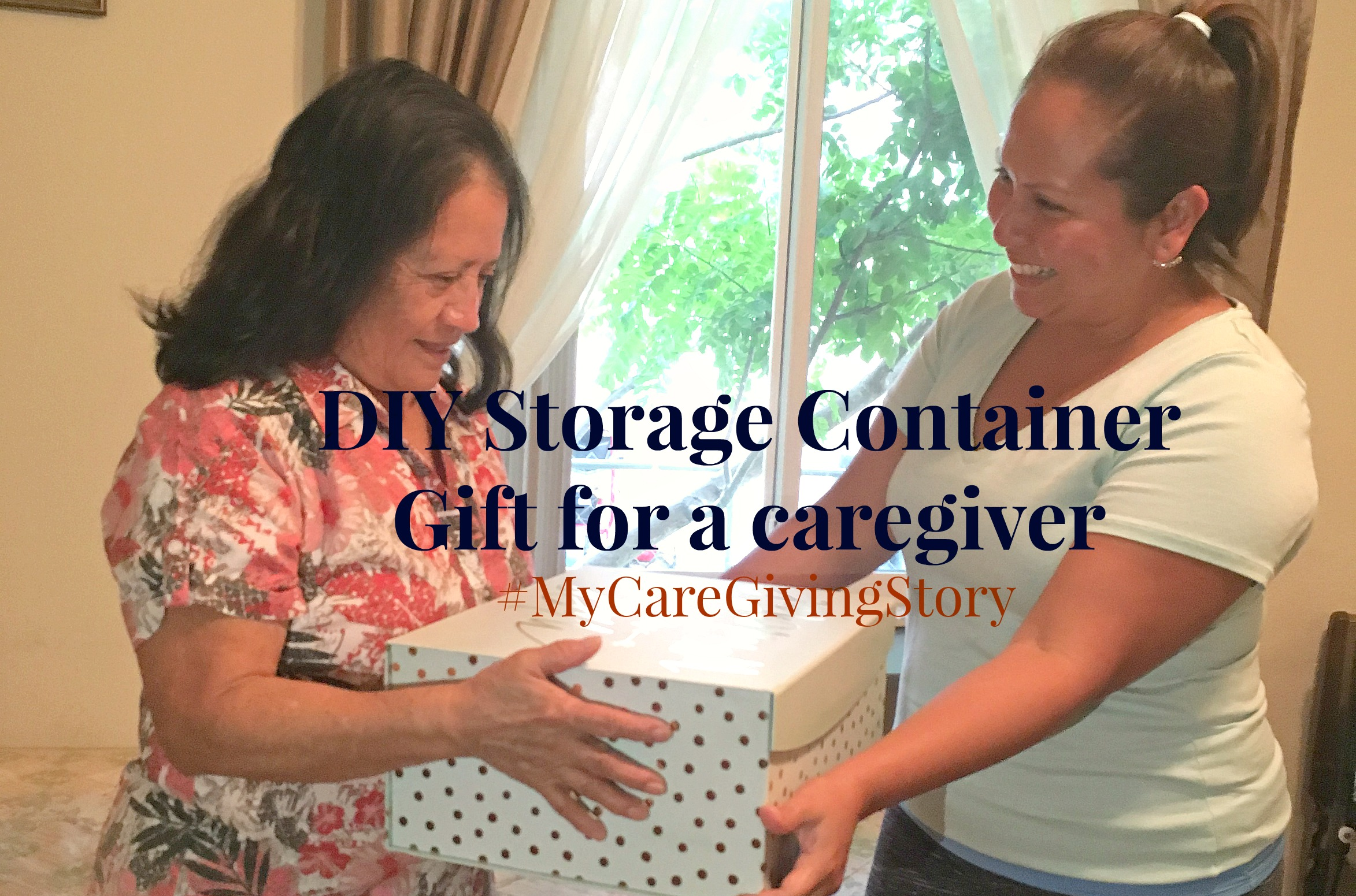 DIY Caregiver Storage Container Gift