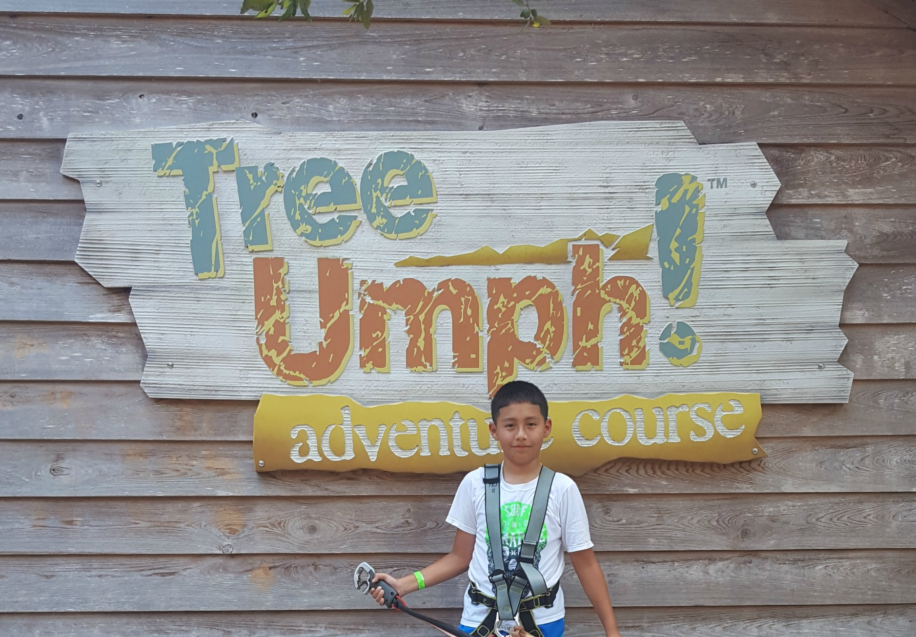Hanging at TreeUmph Adventure Course in Bradenton, FL